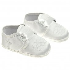 B92-C: Boys Satin Shoes (NB-12 Months)
