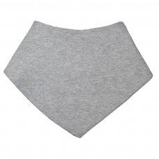 BB507-G: Plain Grey Bandana Bib