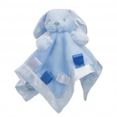 BC26-B: Bunny Comforter w/Ribbons (Blue Only)