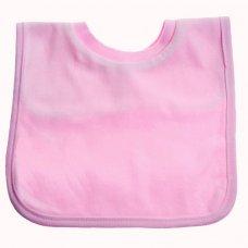 P4632: Plain Pink Pop-On Bib