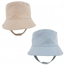 0193X: Boys Plain Bucket Hat With Chin Strap (1- 4 Years)