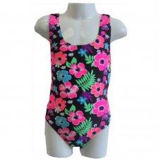 0209T: Girls T Back Pattern Swimsuit (2-7 Years)