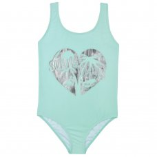 09C040: Older Girls Swimsuit With Foil Print (7-13 Years)
