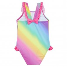 09C049: Infant Girls Rainbow Dolphin Swimsuit (2-6 Years)