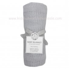 BW-112-1005G: Baby Cellular Roll Blanket- Grey