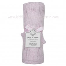 BW-112-1005P: Baby Cellular Roll Blanket- Pink