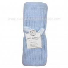 BW-112-1005S: Baby Cellular Roll Blanket- Sky