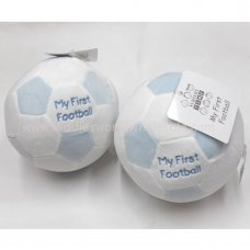 GP-25-1014: Baby Soft Toy with Rattle 'My First Football'-Sky (0+ Months)
