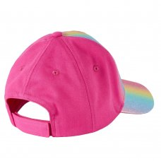 10C172-2-6: Infant Girls Glitter Rainbow Cap (2-6 Years)