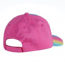 10C172-7-13: Older Girls Glitter Rainbow Cap (7-13 Years)