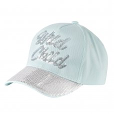 10C174-2-6: Infant Girls Sequin Cap- Wild Child (2-6 Years)