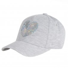 10C189-2-6: Infant Girls Jersey Cap With Sequin Heart (2-6 Years)