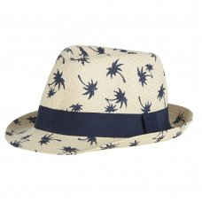 10C190-7-13: Older Boys All Over Print Trilby Hat (7-13 Years)
