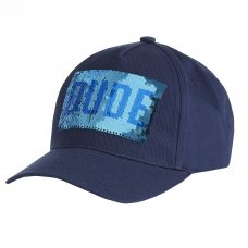 10C192-7-13: Older Boys Flip Slogan Cap- Cool Dude (7-13 Years)