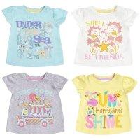 11C138: Baby Girls Printed T-Shirts (3-24 Months)
