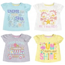 11C138: Baby Girls Printed T-Shirts (3-24 Months)