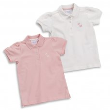 11C046: Infant Girls Pique Polo With Butterfly Emblem (2-6 Years)