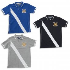 11C049: Older Boys Pique Polo with Emb (7-13 Years)