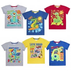 11C137: Infant Boys Novelty Printed Number T-Shirts (1-6 Years)
