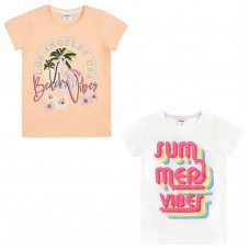 11C147: Older Girls Printed T-Shirts (7-13 Years)