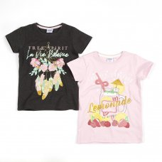 11C148: Older Girls Printed T-Shirts (7-13 Years)