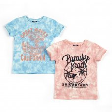 11C150: Infant Boys Tie Dyed T-Shirts With Print (2-6 Years)