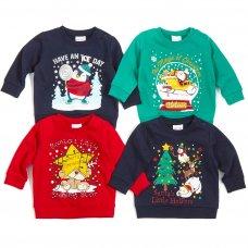 11C152: Assorted Babies Christmas Fleece Sweatshirts (6-24 Months)