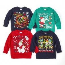11C153: Assorted Infants Christmas Fleece Sweatshirts (2-6 Years)