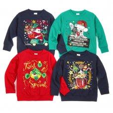 11C154: Assorted Kids Christmas Fleece Sweatshirts (7-13 Years)