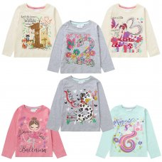 11C155: Infant Girls Novelty Printed Number Tops (1-6 Years)