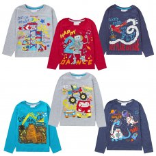 11C156: Infant Boys Novelty Printed Number Tops (1-6 Years)