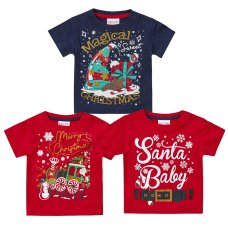 11C157: Assorted Babies Christmas T-Shirts (3-24 Months)