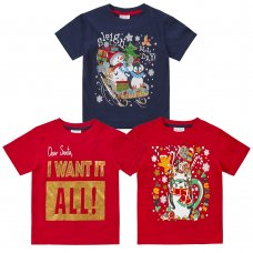 11C158: Assorted Infants Christmas T-Shirts (2-6 Years)