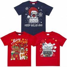 11C159: Assorted Kids Christmas T-Shirts (7-13 Years)
