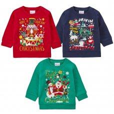 11C160: Assorted Babies Christmas Fleece Sweatshirts (6-24 Months)