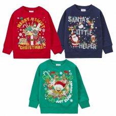 11C161: Assorted Infants Christmas Fleece Sweatshirts (2-6 Years)