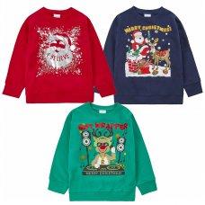 11C162: Assorted Kids Christmas Fleece Sweatshirts (7-13 Years)