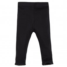 12C124: Baby Girls Single Pack Leggings- Black Only (3-24 Months)