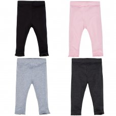 12C130: Baby Girls Single Leggings- Assorted Colours (3-24 Months)