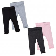12C134: Baby Girls 2 Pack Leggings- Assorted Colours (3-24 Months)