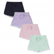 12C140: Infant Girls Interlock Shorts (2-6 Years)
