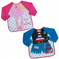13C045: Pirate & Fairy Long Sleeve Bibs