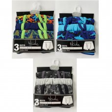 14C902: Infant Boys 3 Pack Trunk Fit Boxer Shorts (2-6 Years)