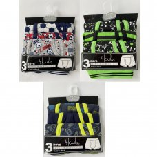 14C905: Older Boys 3 Pack Trunk Fit Boxer Shorts (7-13 Years)