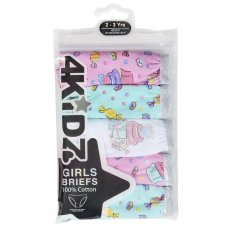 14C914: Infant Girls 5 Pack Briefs (2-6 Years)