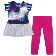 15C319: Infant Girls Hello Tunic & Legging Set (2-8 Years)