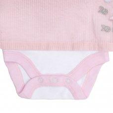 15C334: Baby Girls Ditsy Bunny Bodysuit Dress (NB-12 Months)