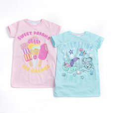 15C471: Infant Girls Printed Nightdress (2-6 Years)