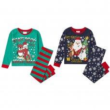 15C488: Infants Christmas Printed Pyjama (2-6 Years)