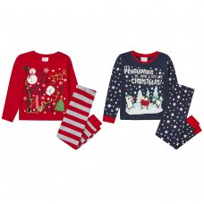 15C489: Infants Christmas Printed Pyjama (2-6 Years)